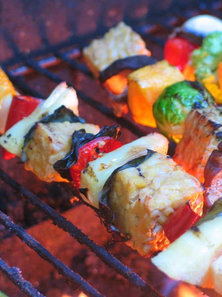 BBQ Tempeh Kebobs