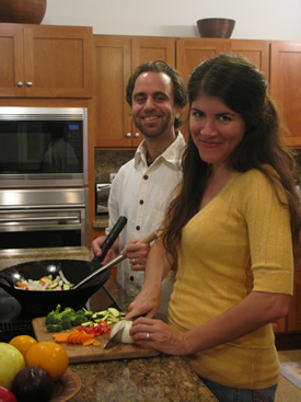 jen and mark cooking